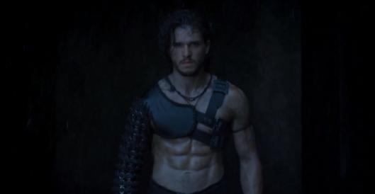 Jon Nieve con abdominales